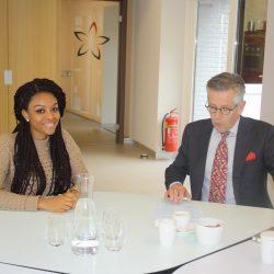 Dick Mol Elisabeth Strouven met Beurskandidaat
