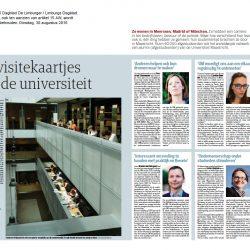 De visitekaartjes van de Universiteit Maastricht